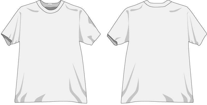 t-shirt vorlage vektor download illustrator