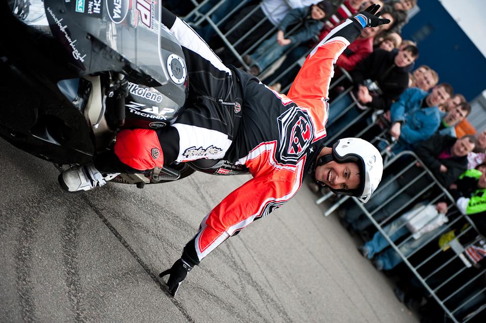 Stuntshow Motorradmesse Erfurt 2009
