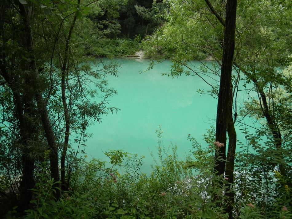Slowenien – auch hier wieder türkis-blaues Wasser der Soca